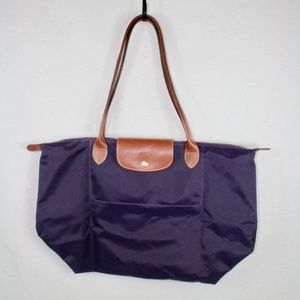 Longchamp Le Pliage Tote Bag Large Purple